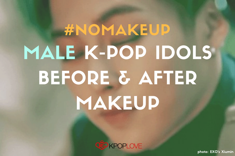 Male K-pop Idols Before & After Makeup