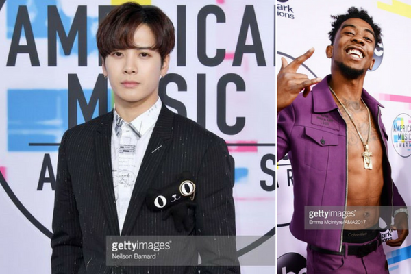 GOT7 Jackson Interviews Desiigner on the American Music Awards Red Carpet