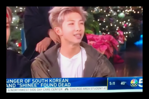 NBC Mistakenly Uses Footage of BTS RM to Report Jonghyun's Death