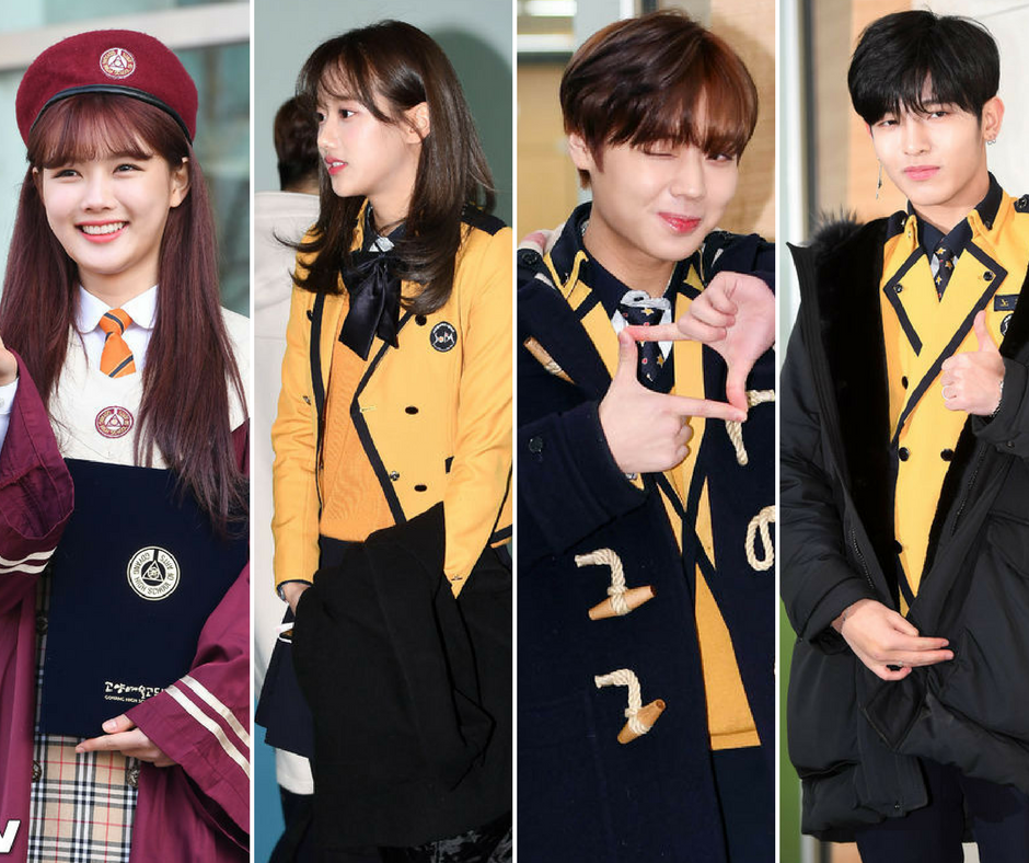 Korean Stars in Their Uniforms for High School Graduation