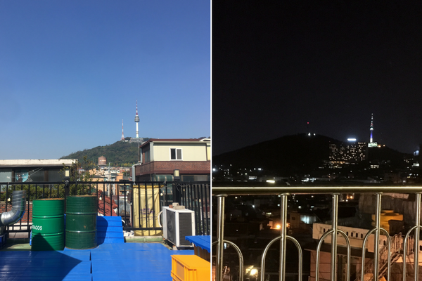 Seoul's Rooftops During the Day and by Night