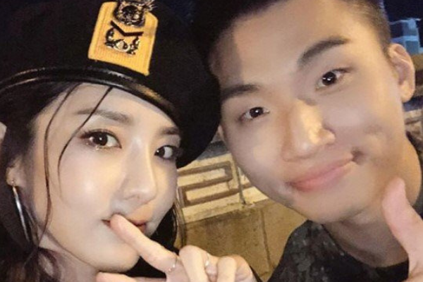 Sandara Park Shares Cute Picture with Daesung Who Is Serving in Army