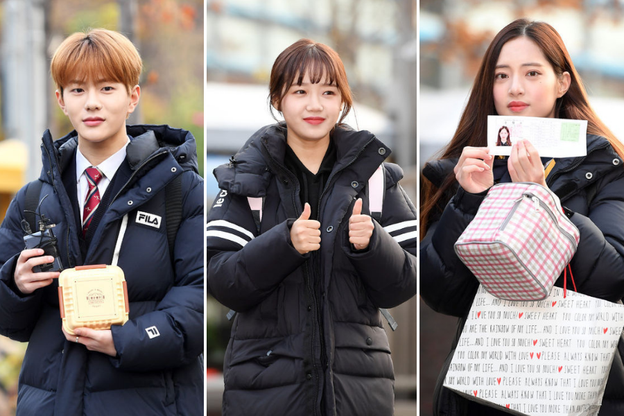 Idol Stars Head to Test Sites for College Entrance Exam