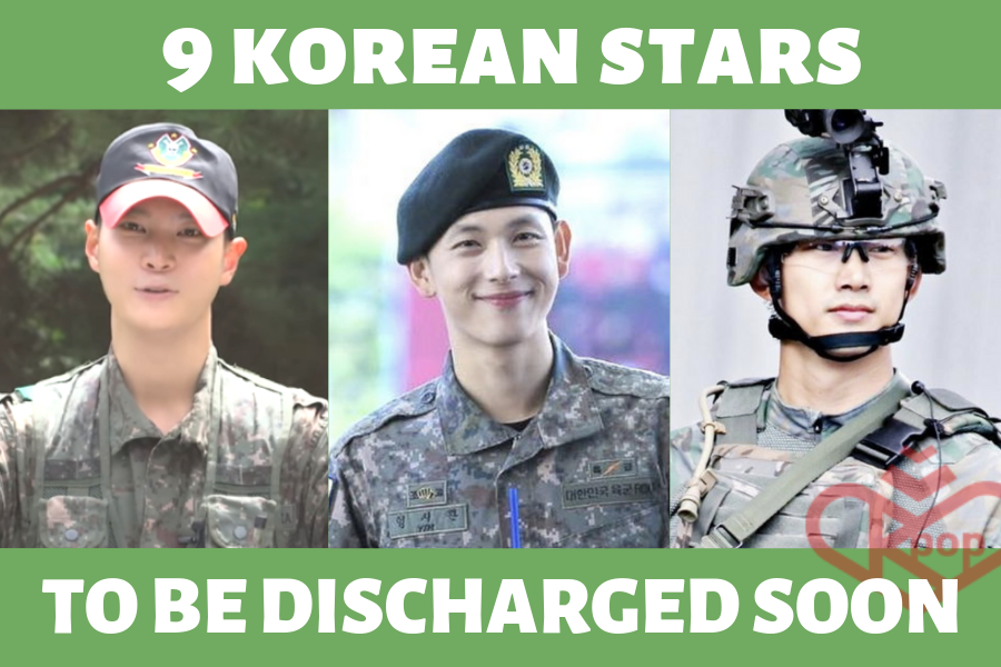 9 Korean Stars to Be Discharged from the Military Soon