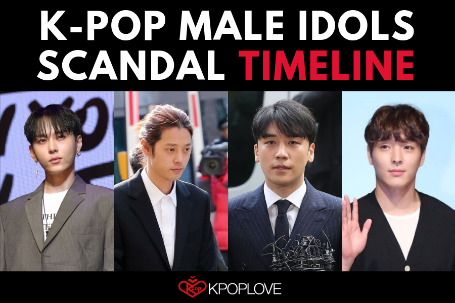K-pop Male Idol Scandal TIMELINE